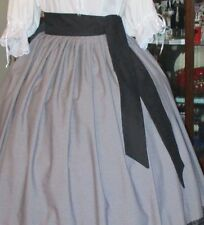 """Civil War Dress Victorian Style 100% Cotton """"Sash""""-Many Colors~82 In X 3 Inch"""