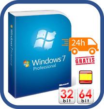 WINDOWS 7 PROFESSIONAL 32/64 BIT CLAVE ORIGINAL PRO KEY ESD ESPAÑOL [1PC]