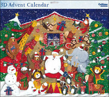 Traditional Father Christmas Grand Huge Advent Calendar Caltime 442 x 362 mm