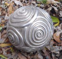 "Latex garden ball mold 4""W x 4""H plaster concrete casting mould"