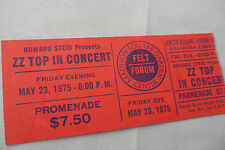Zz Top Original_1975_Concert Ticket Stub_Fandango Tour_Nyc_Ex+