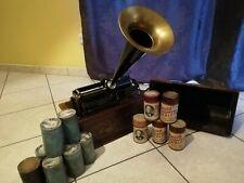 Edison Home Phonograph inklusive 14 Wachswalzen