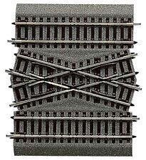 42598 Roco Cruce Doble Módulo Central Dgv 15 Grados Con Capa de Balasto