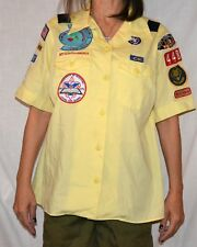 DEN LEADER  Women's XL Official BSA Cub Scout Uniform Shirt patches boy scout