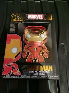 Funko Pop Pin Marvel Iron Man #01 Enamel Loungefly Series 1 New