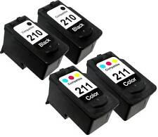 4PK FOR CANON PG 210 CL 211 2976B001 2974B001 PIXMA MP250 MP270 MP280 MP480