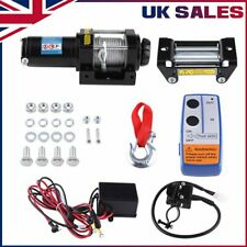 More details for electric 4000lbs recovery winch kit atv trailer truck car 12v remote control c