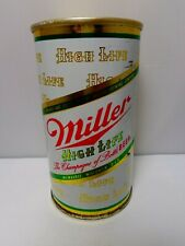 Miller High Life Straight Steel Pull Fan Tab Beer Can #94-14 Milwaukee Wisconsin