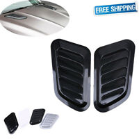 2pcs Universal Car Decorative Air Flow Intake Scoop Bonnet Side Fender Vent Hood