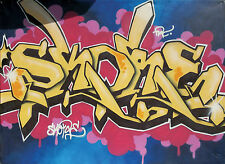 ORIGINAL LARGE GRAFFITI ART 8 x 6 Feet, By SKORE, Adidas End To End Project 2006
