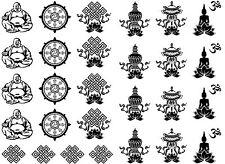"Buddha Buddhism Symbols 5""X7"" Card Fused Glass Ceramic Decals 14CC326"