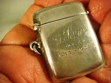 Antique Vesta Case Solid Silver Birmingham 1883