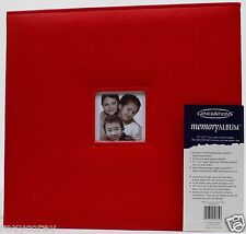 Generations 12x12 Red Faux Leather Memory Scrapbook Album Top Loading 10 Pages