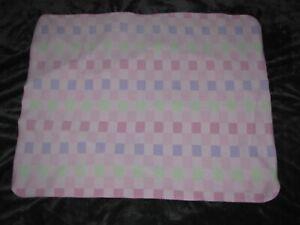 Circo Pink Green Purple Microfleece Baby Girl Blanket Square Block Plaid