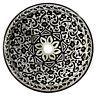 Marokkanische Keramik Waschbecken Handwaschbecken Becken Schwarz&Weiß Ø 39 cm