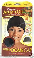 Magic Coll - Organic Argan Oil Treated Spandex Dome Cap With Wide Elastic #3016B