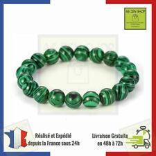 Bracelet Malachite En Pierre Naturelle De 8 mm Protection Lithothérapie France
