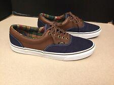 Mens Vans Blue/Brown Leather/Canvas Skate Shoes. Size 11.5. Nice Shoes!!!