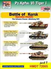 H-modèle DECALS 1/72 Pz. Pour Kpfw. VI Tiger I Battle of Kursk (Schwere Pz. - Abt.505), Pa