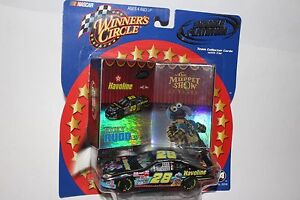 WINNER'S CIRCLE #28 RICKY RUDD MUPPET NASCAR TEAM COLLECTOR CARDS AND CAR