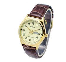 -Casio MTPV006GL-9B Men's Strap Fashion Watch Brand New & 100% Authentic
