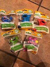 Sesame Street Friends, Lot Of 5-Elmo, Cookie Monster, Grover, Oscar Grouch, Abby