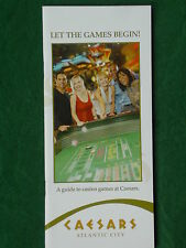 A Guide to Casino Games at Caesars  Atlantic City  Let The Games Begin!  New