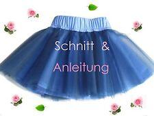 Schnitt + Nähanleitung Tüllrock Tutu Gr. 74-128 als Ebook