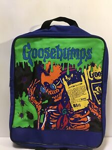 Vtg 1990s Goosebumps Backpack Skeleton Reading Book Spider
