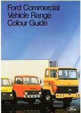 Ford Commercials Exterior Colours 1980-81 UK Market Brochure Transit A D Series