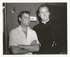TONY CURTIS KARL MALDEN Original CANDID Dressing Room Vintage 1960 Studio Photo