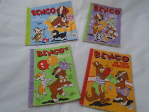 Vintage 4 x Bengo Dean's rag books Cloth Collection 1960s Drawings by 'Tim'