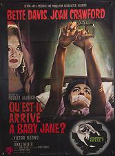 "WHATEVER HAPPENED TO BABY JANE 47""x63"" B Best poster! Bette Davis Joan Crawford"