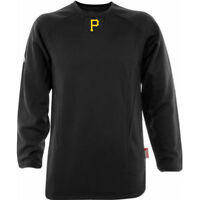 Pittsburgh Pirates Therma Base Tech Fleece Pullover Small Black Majestic MLB