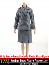 "Dragon DML Toys 1/6 Scale WWII Female Soldier Office Dress Clothing F 12"" Figure"