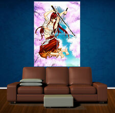 FAIRY TAIL ERZA SCARLET - Large Laminated Poster - A1 - Anime Manga Samurai