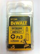 Dewalt DT7388 PZ3 25 mm Impact extrême tournevis bits Makita Bosch Hitachi