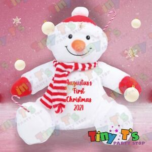 Baby's Personalised First Christmas Teddy