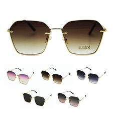 Gafas de sol para mujer de gran tamaño Gafas de Sol Retro Vintage Ojo De Gato Diseñador hexagonal