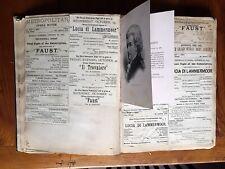 1884-85 Opera Scrapbook Programs Clippings etc. Richard Wagner Handbill