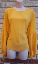 NEW LOOK FLARE LONG TIE SLEEVE  GYPSY BAGGY CHIFFON BLOUSE TUNIC TOP T SHIRT 16