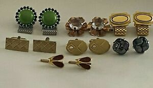 Vintage 7 Pair Men & Women's Cuff Links 1 Signed Sarah Coventry  #33