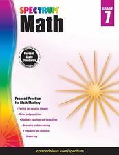 Spectrum Math Workbook, Grade 7 (Paperback or Softback)