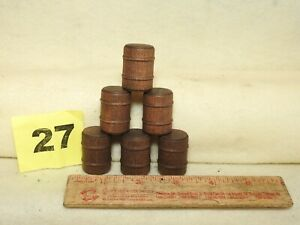 SET OF SIX NEW REPRODUCTION LIONEL O SCALE #362-78 WOODEN BARRELS