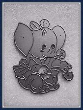 GRANDE taglio in metallo Elefante morire, Benna & Spade, fiocco, Stencil, artigianato, card making