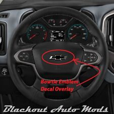 Matte Black Vinyl BowTie Steering Wheel Emblem Overlay Decal Chevrolet Equinox