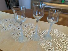 New ListingPartylite 3 Piece Crystal Trio Candle Holders Frosted Stems Great Condition!