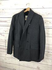 Mens BEN SHERMAN Wool Charcoal Gray Peacoat Fall/Winter Jacket sz Large L EUC A+