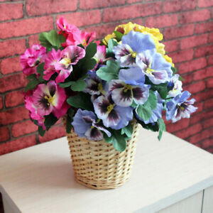 1PC ARTIFICIAL FLOWER PANSY GARDEN STAGE BOUQUET HOME WEDDING PARTY DECOR GOOD
