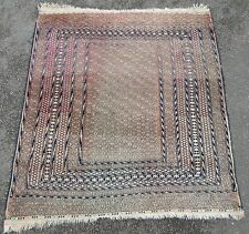 ANTIQUE COUNTRY HOUSE SHABBY CHIC ERSARI TURKMEN NORTH AFGHAN RUG circa 1900